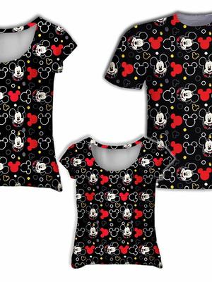 Camisa Mãe e Filha + Camisa Pai - Mick Miniaturas 2