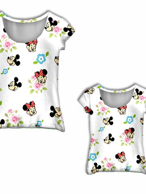Camisa Mãe e Filha - Mini Flores