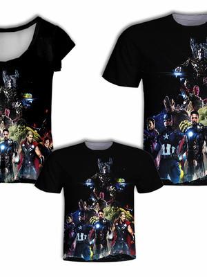 Camisa Pai e Filho + Camisa Mãe - Heróis 3