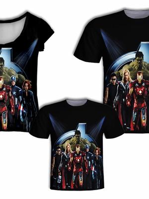 Camisa Pai e Filho + Camisa Mãe - Heróis 6