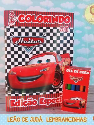 Revistinha para colorir Tema Carros