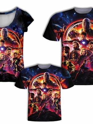 Camisa Pai e Filho + Camisa Mãe - Heróis 8