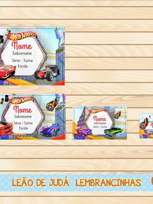 Adesivo escolar - 40 unidades tema hot wheels - Frete Grátis