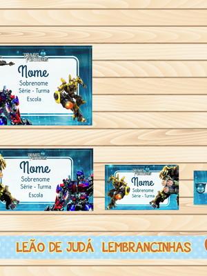 Adesivo escolar - 40 unidades tema Transformers - Frete Grát