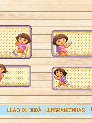 Adesivo escolar - 40 unidades tema Dora Aventureira - Frete