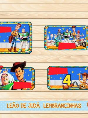 Adesivo escolar - 40 unidades tema toy story - Frete Grátis