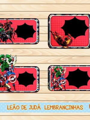Adesivo escolar - 40 unidades tema Vingadores - Frete Grátis
