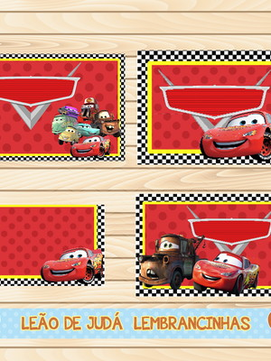 Adesivo escolar - 40 unidades tema Carros - Frete Grátis