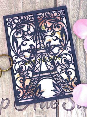 Arquivo para convite Torre Eiffel Floral