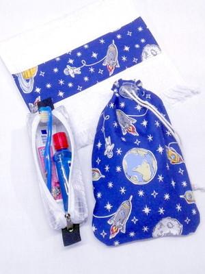 Kit Higiene Bucal Infantil c/estojo p/escova dental e toalha