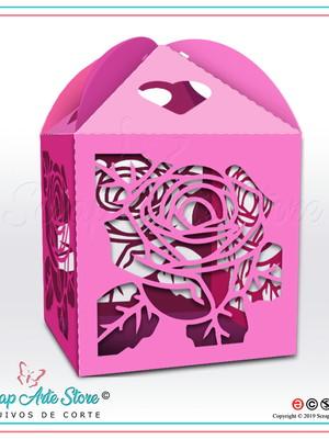 Caixa para lembrança de casamento Rosa