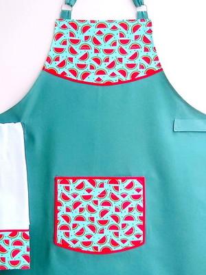 Avental De Cozinha Feminino e Bate Mão - 2 peças