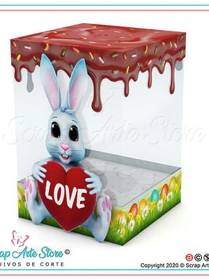 Arquivo Caixa para ovo da páscoa Coelho Love