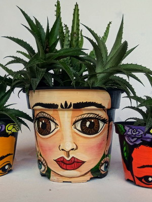 Frida Kahlo | kit com 3 vasos