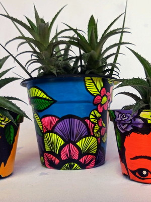 Frida Kahlo | kit com 3 vasos