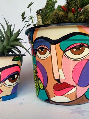 Frida Kahlo | kit com 2 vasos