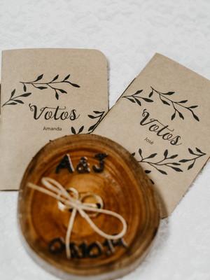 Livro de votos craft - casamento (o par)