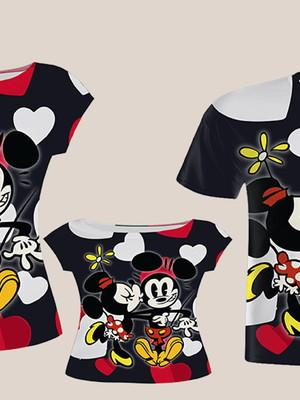 Camisa Mãe e Filha + Camisa Pai - Mini e Mick Coração