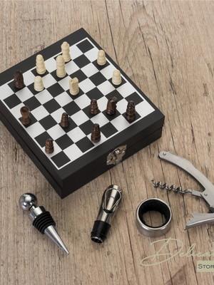 Kit Vinho Xadrez 4 peças - DS12046