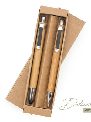 Kit Ecológico Caneta e Lapiseira Bambu - DS13796