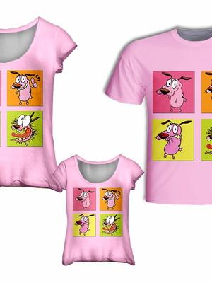 Camisa Mãe e Filha + Camisa Pai - Coragem