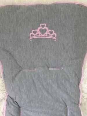 Capa De Carrinho Cinza Princesa