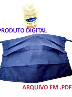 Projeto digital passo a passo molde PDF máscara de proteção*
