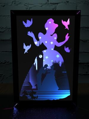 Arquivos de corte shadow box Cinderella