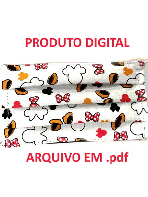 projeto digital pap molde PDF máscara de proteção infantil *
