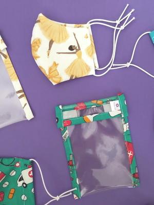 kit máscara proteção anatômica + capinha porta máscara *