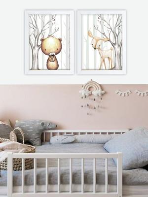 Dupla de Quadros Infantis com Vidro Tam: 24 x 33 cm cada Nov