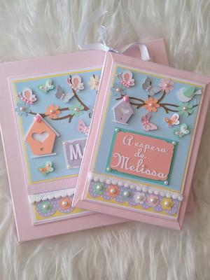 livro do bebê diário gravidez jardim encantado scrapbook