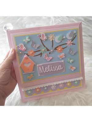 livro diário bebê menina jardim encantado candy color scrap