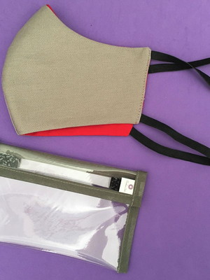 kit máscara proteção elástico cabeça +capinha porta máscara*