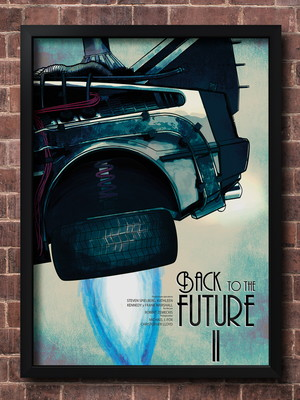 Quadro Back To The Future 2 - Tam. 30X40 cm