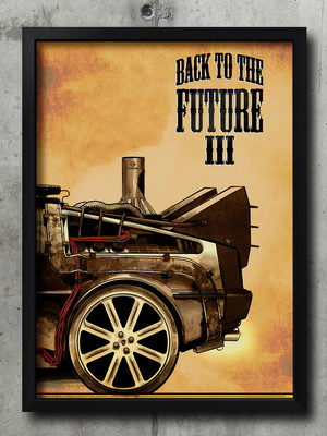 Quadro Back To The Future 3 - Tam. 30X40 cm