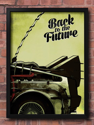 Quadro Back To The Future - Tam. 30X40 cm