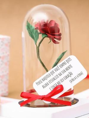 Caixa Explosiva com Rosa encantada P - Dia dos Namorados