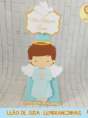Caixinha para festa tema batizado
