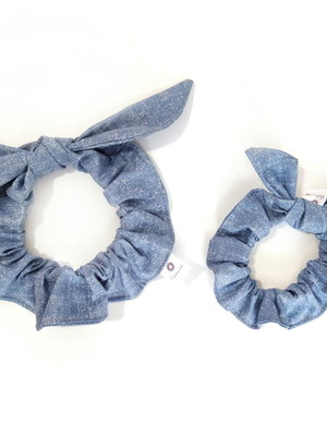 Kit 2 scrunchies com laço removível conjunto mãe e filha *