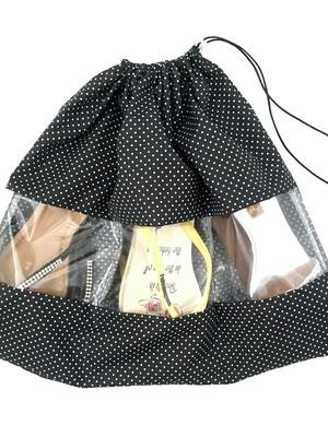 saco porta sapato rasteirinhas chinelos com 3 divisórias *