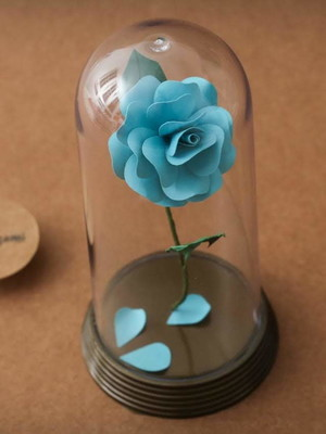 Rosa Encantada M - Azul turquesa