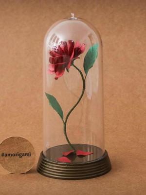 Rosa Encantada M 14cm - A Bela e a Fera
