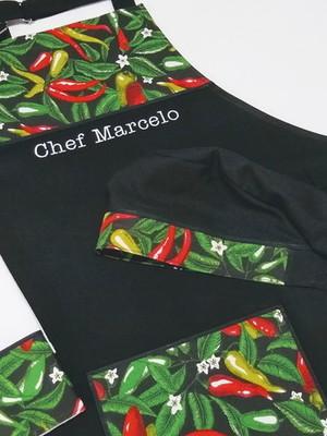 Avental de Cozinha Masculino Personalizado e Bandana