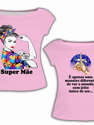 Camisa Adulta - Autismo Rosa