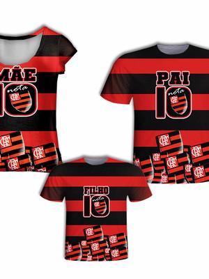 Camisas Pai e Filho + Camisa Mãe - Time Mengo