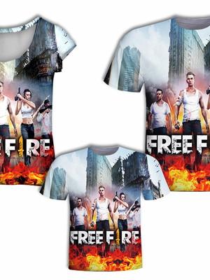 Camisas Pai e Filho + Camisa Mãe - Jogo Fire 2