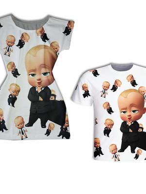 Vestido Mãe + Camisa Filho - Chefinho