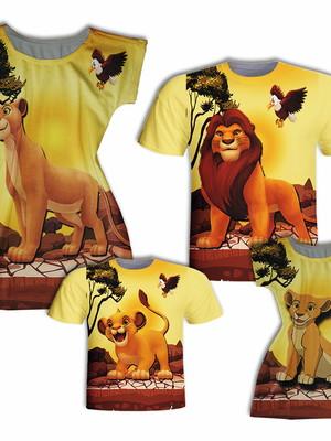 Camisas Pai e Filho + Vestidos Mãe e Filha - Leão