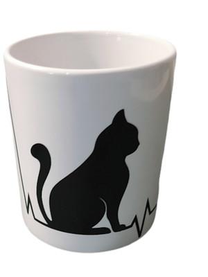 Caneca de Gato Cerâmica 325 ml com Caixinha